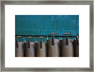 Old Watering Cans Framed Print by Joana Kruse