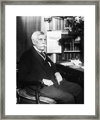 Oliver Wendell Holmes, Jr. 1841-1935 Framed Print by Everett
