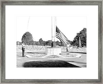 Omaha Beach Wwii American Cemetery Framed Print by Joseph Hendrix
