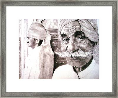 On My Guard Framed Print