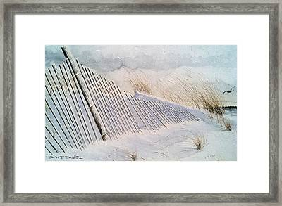 On Sheepshead Bay Framed Print by Don F  Bradford