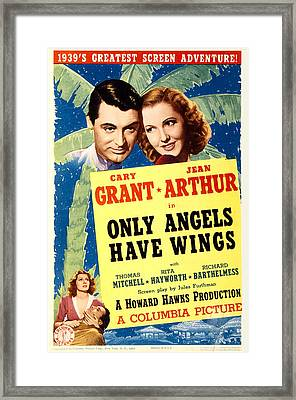 Only Angels Have Wings, Cary Grant Framed Print by Everett