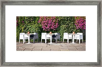 Outdoor Cafe Framed Print