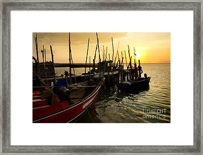 Palaffite Port Framed Print by Carlos Caetano