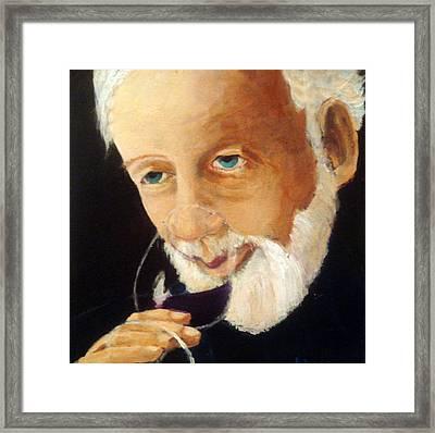 Papa Pinot Framed Print