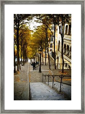 Paris Stairs Framed Print