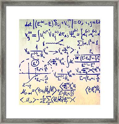 Particle Physics Equations Framed Print by Ria Novosti