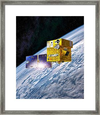 Picard Satellite, Artwork Framed Print by David Ducros
