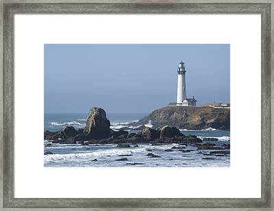 Framed Print featuring the photograph Pigeon Point Lighthouse by Mike Irwin