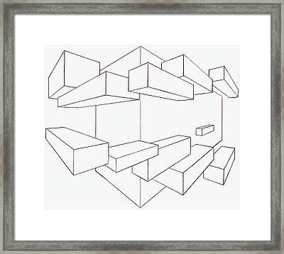2-point Perspective Drawing Framed Print by Gregory Dean