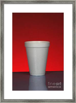 Polystyrene Cup Framed Print by Photo Researchers