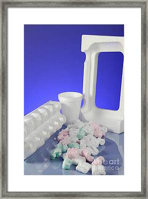 Polystyrene Objects Framed Print by Photo Researchers