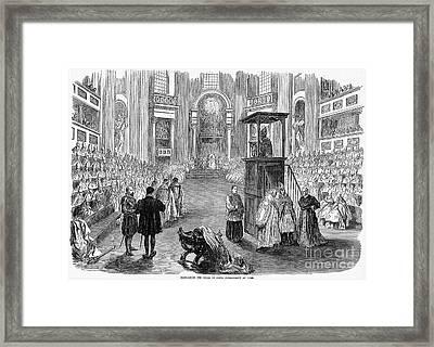 Pope Pius Ix (1792-1878) Framed Print by Granger