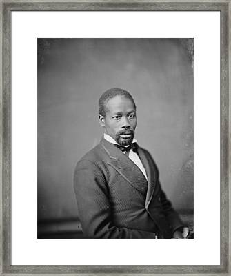 Portrait Of An African American Man Framed Print by Everett