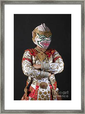 Portrait Of Hanuman Warrior Framed Print by Anek Suwannaphoom