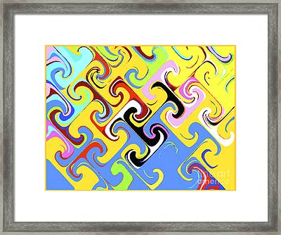 Framed Print featuring the digital art Power Of T by Bill Thomson