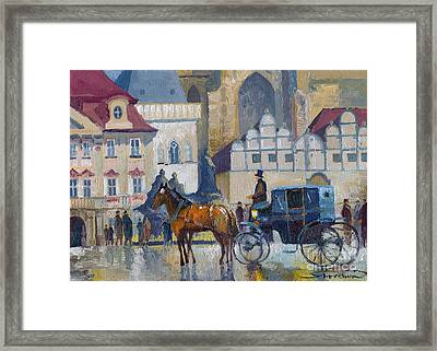 Prague Old Town Square 01 Framed Print by Yuriy  Shevchuk