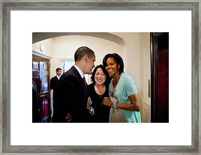 President And Michelle Obama Framed Print