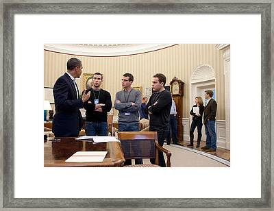 President Obama Meets Framed Print