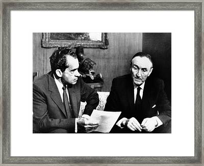 President Richard Nixon Meets Framed Print by Everett