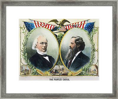 Presidential Campaign, 1872 Framed Print by Granger