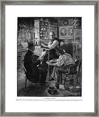Presidential Campaign, 1884 Framed Print