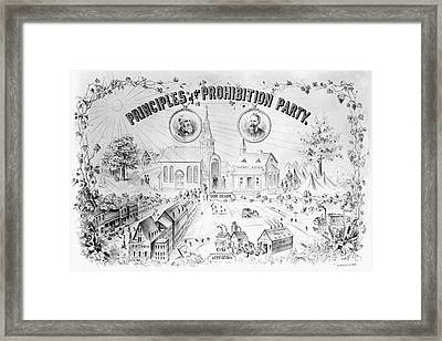 Presidential Campaign, 1888 Framed Print