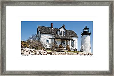 Prospect Harbor Light Framed Print