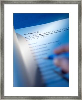Psychometric Test Framed Print