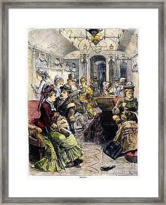 Pullman Car, 1876 Framed Print by Granger