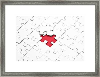 Puzzle Framed Print by Joana Kruse