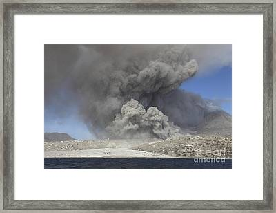 Pyroclastic Flow In Abandoned City Framed Print by Richard Roscoe