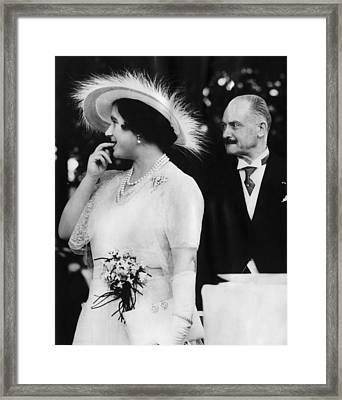 Queen Elizabeth, The Former Duchess Framed Print
