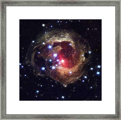 Radiation From A Stellar Burst Framed Print by ESA and nASA
