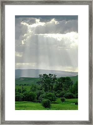 Rain Sun Rays Framed Print by Roderick Bley