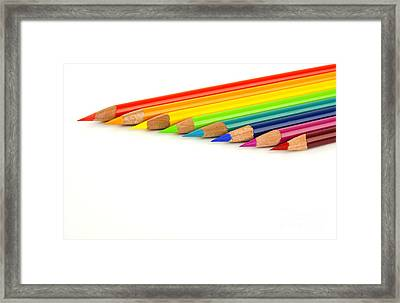 Rainbow Colored Pencils Framed Print