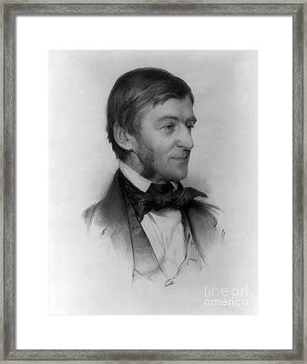 Ralph Waldo Emerson, American Author Framed Print by Photo Researchers