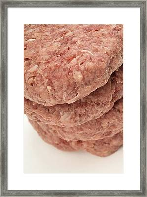 Raw Burgers Framed Print