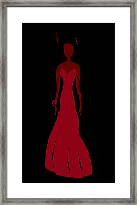 Red Dress Framed Print by Frank Tschakert