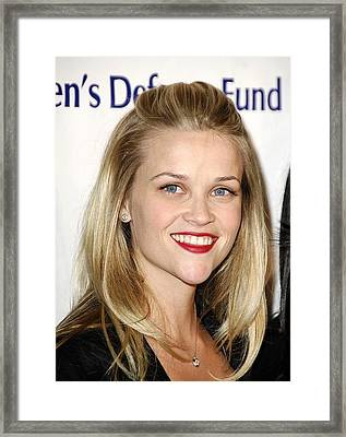 Reese Witherspoon At Arrivals Framed Print by Everett