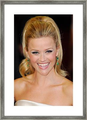 Reese Witherspoon At Arrivals For The Framed Print