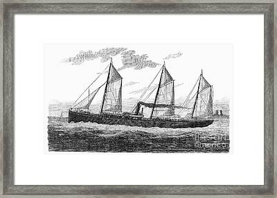 Refrigerated Ship, 1876 Framed Print by Granger