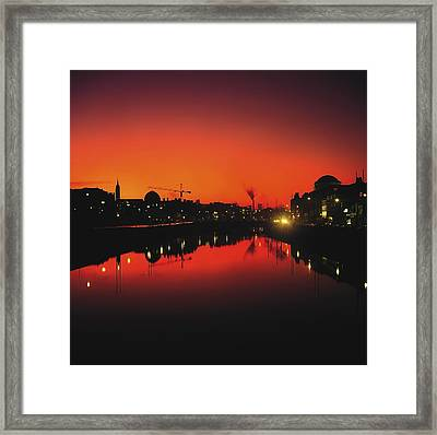 River Liffey, Dublin, Co Dublin, Ireland Framed Print