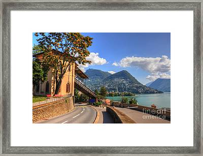 Road And Mountain Framed Print