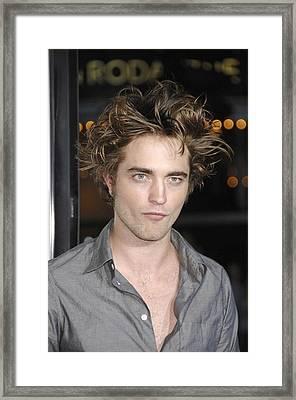 Robert Pattinson At Arrivals Framed Print by Everett