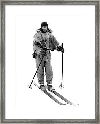 Robert Scott, English Explorer Framed Print