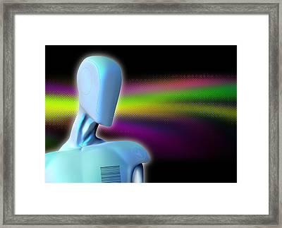 Robot, Artwork Framed Print by Victor Habbick Visions