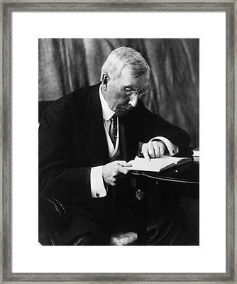 Rockefeller Family. Industrialist John Framed Print by Everett