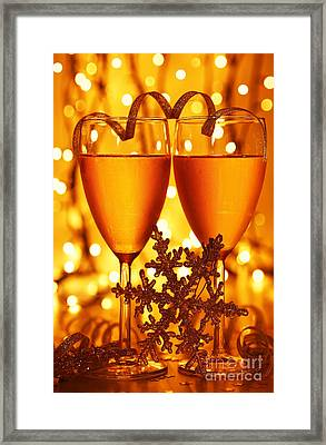 Romantic Holiday Celebration Framed Print by Anna Om