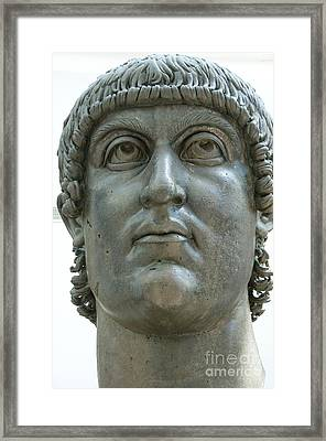 Rome Italy. Capitoline Museums Emperor Marco Aurelio Framed Print